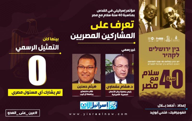 مؤتمر في القدس بمناسبة مرور 40 عاما على معاهدة السلام المصرية الإسرائيلية